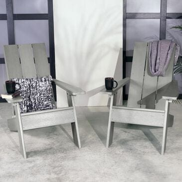 Highwood USA Barcelona Adirondack Chair in Coastal Teak (Set of 2), , large