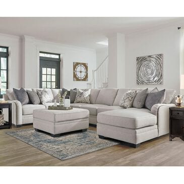 Signature Design by Ashley Dellara 4-Piece Sectional and Ottoman in Chalk, , large