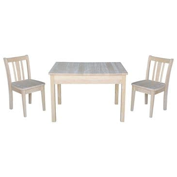 International Concepts San Remo 3-Piece Juvenile Table Set in Unfinished, , large