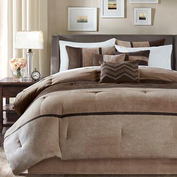 Hampton Park Palisades 7-Piece Queen Comforter Set in Brown, , large