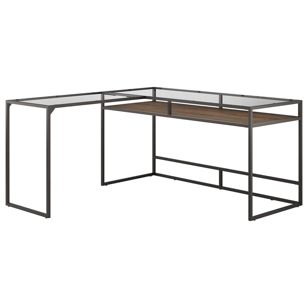 Bush Anthropology 2 Piece Office Desk Set in Rustic Brown, , large