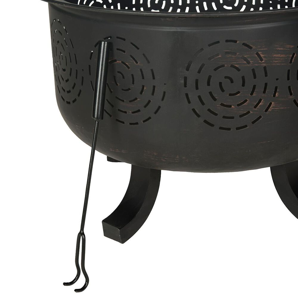 Safavieh Negril Fire Pit in Copper Distressed Black, , large