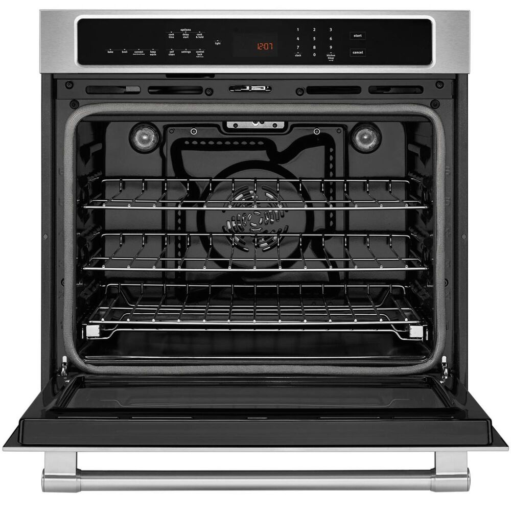 """Maytag 27"""" Single Wall Oven with True Convection in Stainless Steel, , large"""