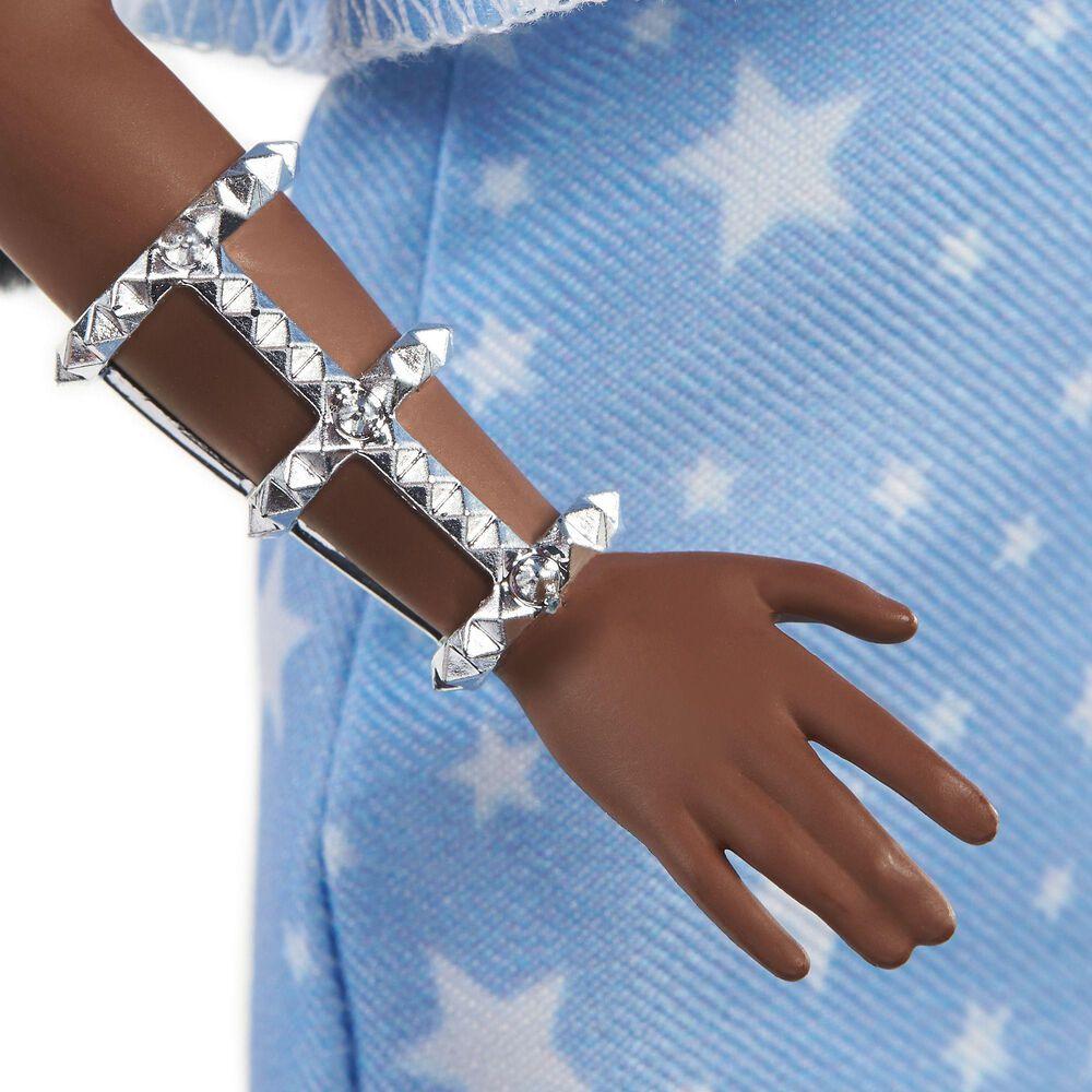 Barbie Fashionista 2 Twisted Braids and Star-Print Dress, , large