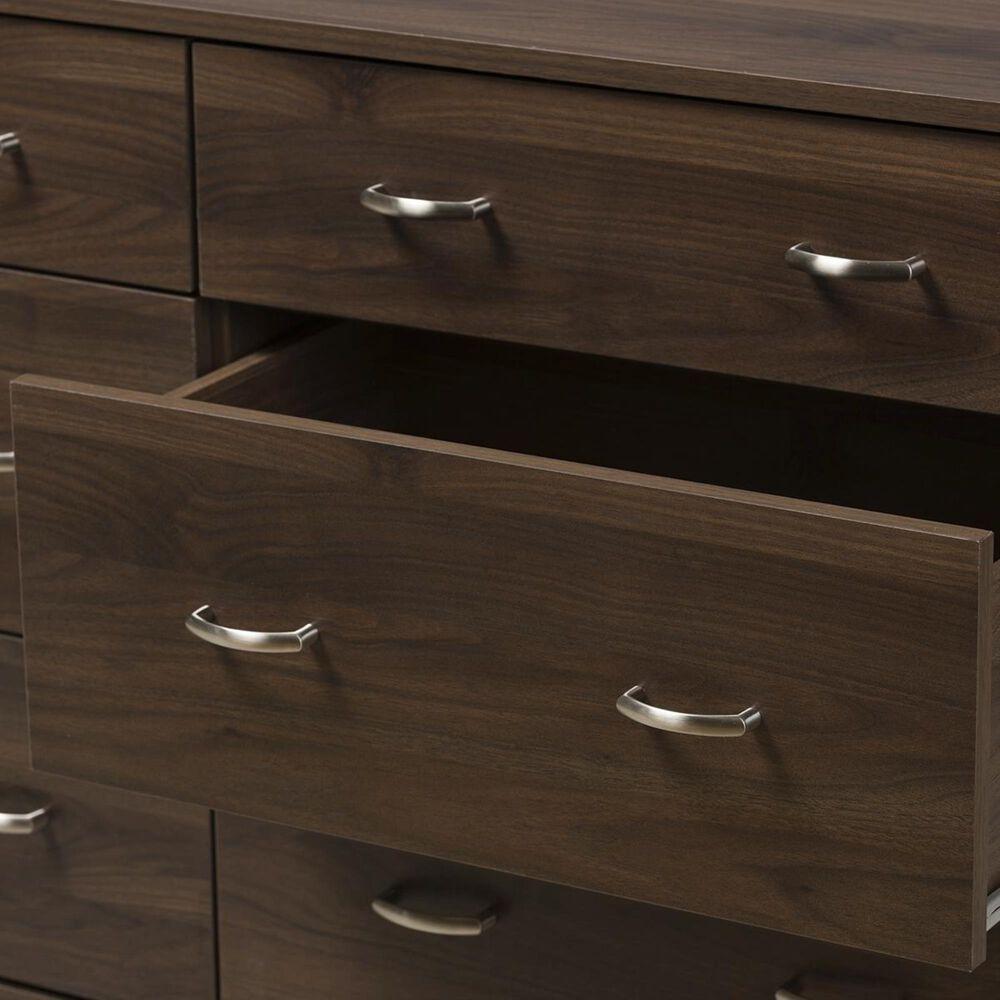 Baxton Studio Disa 6 Drawer Dresser in Brown, , large