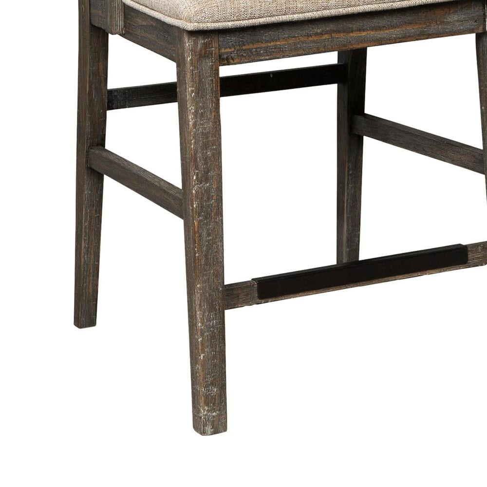 Signature Design by Ashley Wyndahl Upholstered Counter Stool in Rustic Brown, , large