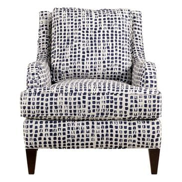 Sam Moore Club Chair in Blue Pattern, , large