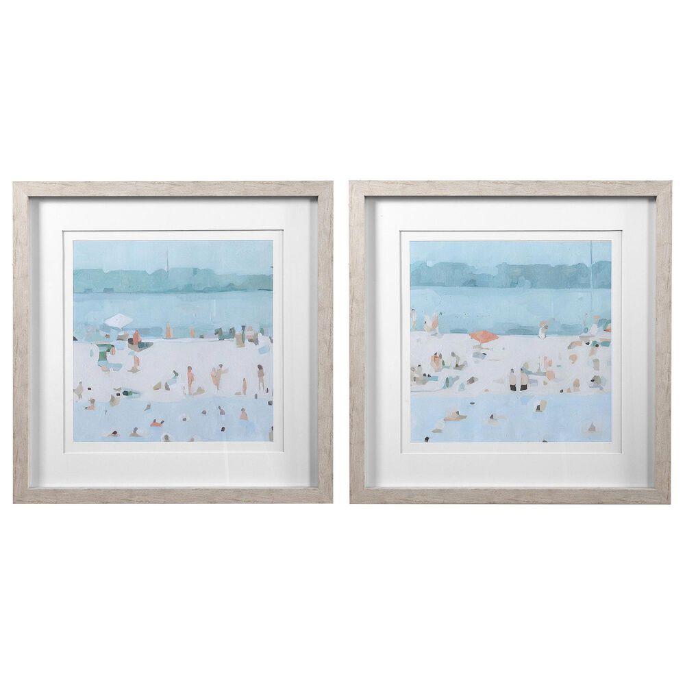 Uttermost Sea Glass Sandbar Framed Prints (Set of 2), , large
