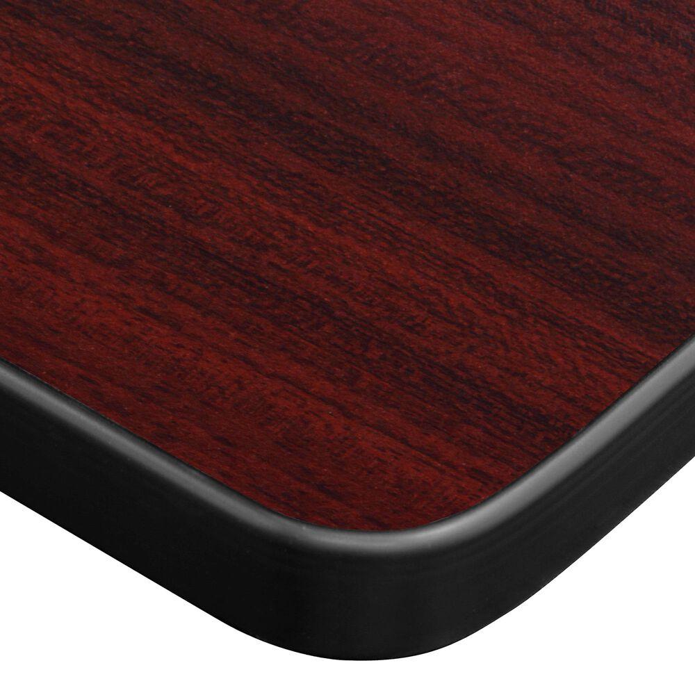 """Regency Global Sourcing Esteem 72"""" Adjustable Power Desk in Mahogany/Black, , large"""