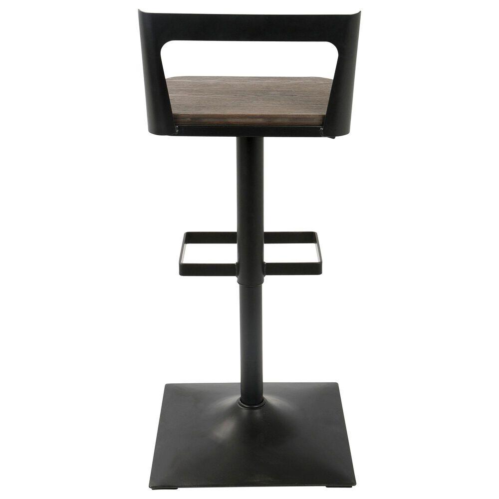 Lumisource Samurai Adjustable Barstool in Espresso/Black, , large