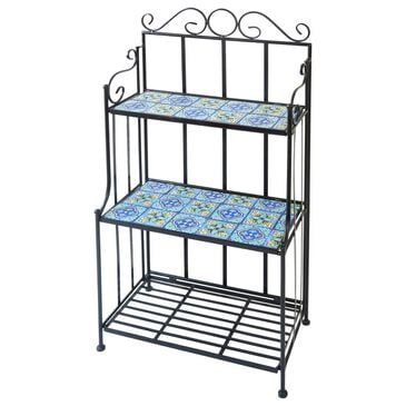 """The Gerson Company 45"""" Plant Shelf in Black and Blue, , large"""