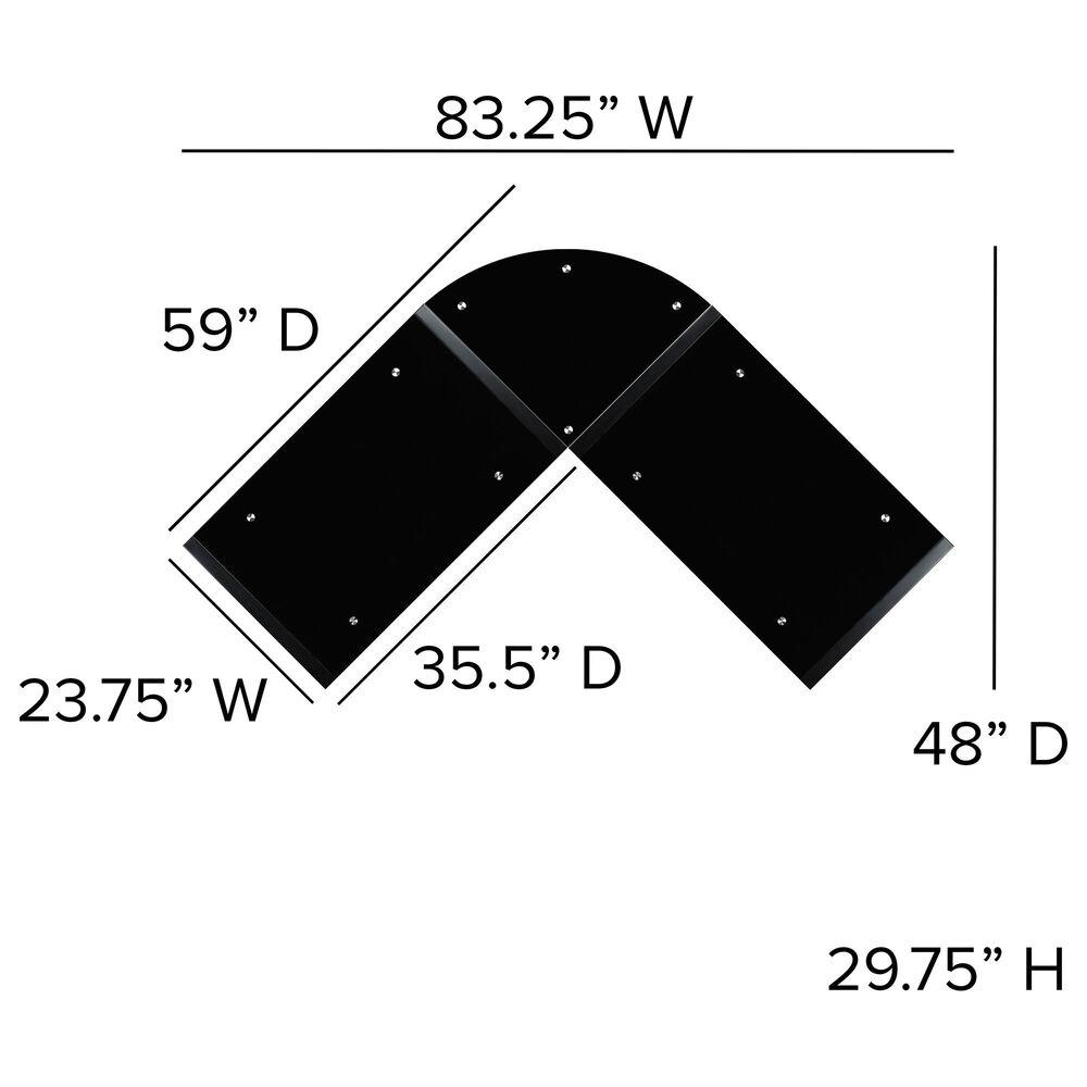Flash Furniture L-Shape Desk in Black, , large