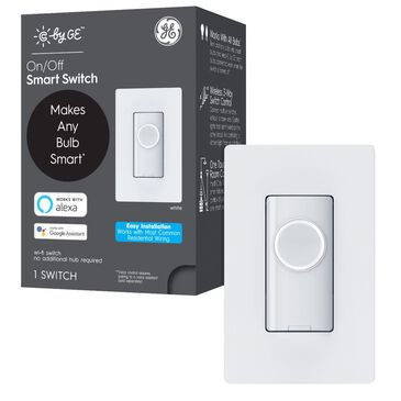 C by GE Smart Button Switch in White, , large