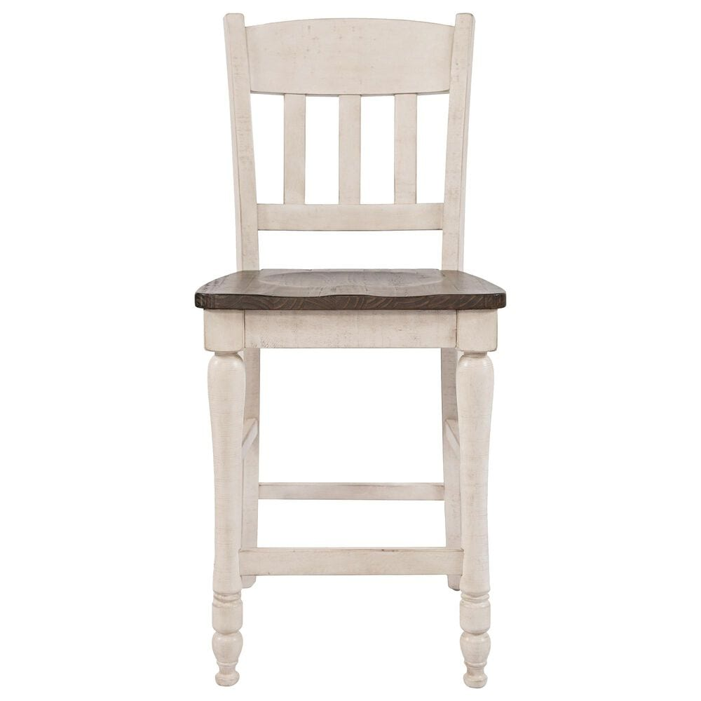 Waltham Madison County 5-Piece Counter Height Dining Set in Vintage White , , large