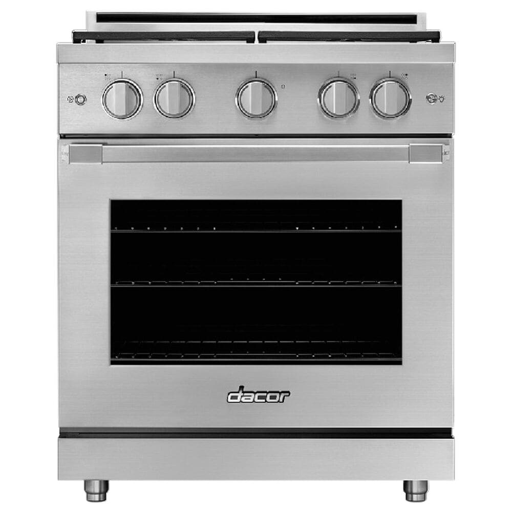 """Dacor 30"""" Liquid Propane/High Altitude Gas Range in Silver Stainless Steel, , large"""