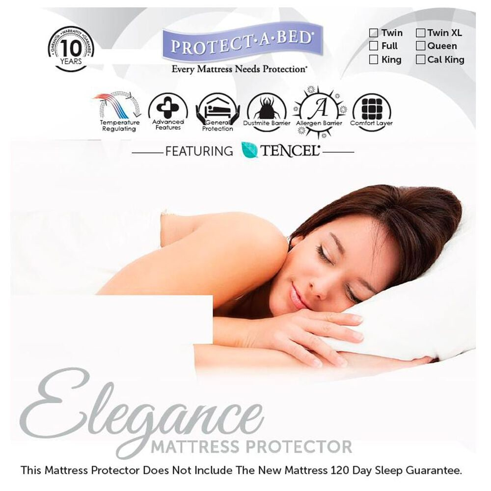 Protect A Bed Elegance Full Mattress Pad, , large