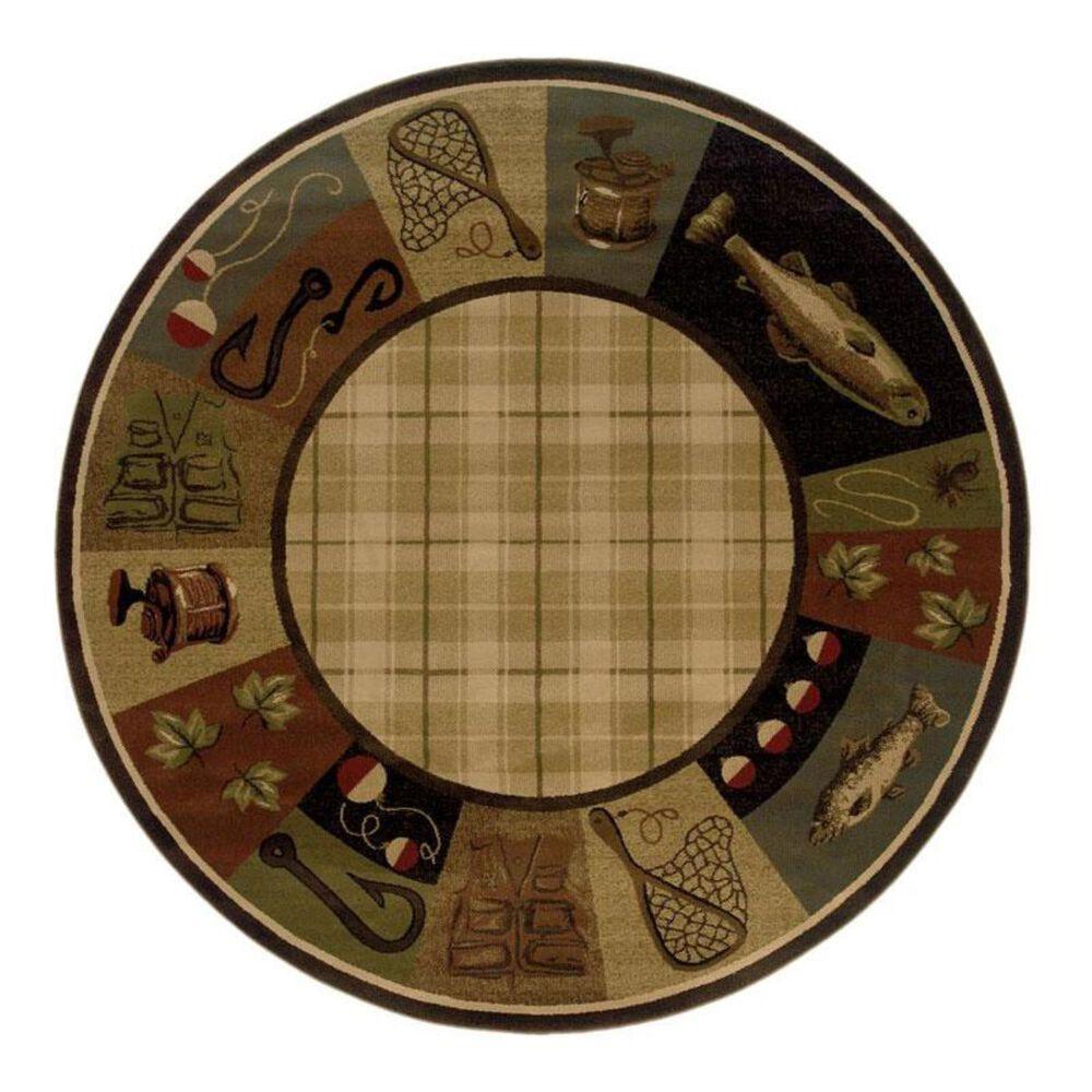 "Oriental Weavers Hudson 1065B 7'8"" Round Beige Area Rug, , large"