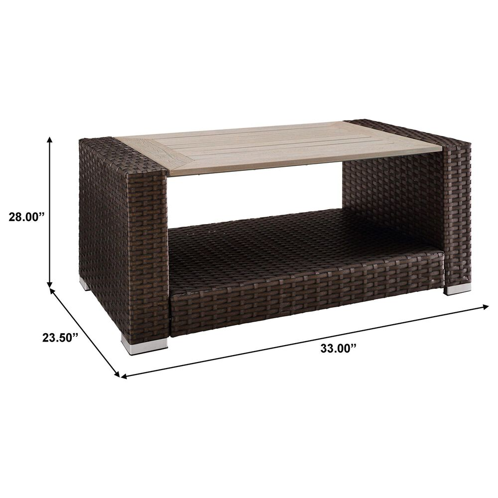 Accentric Approach Patio Table in Brown, , large