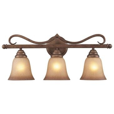 Stein World Lawrenceville 3-Light LED Vanity In Mocha With Antique Amber Glass, , large