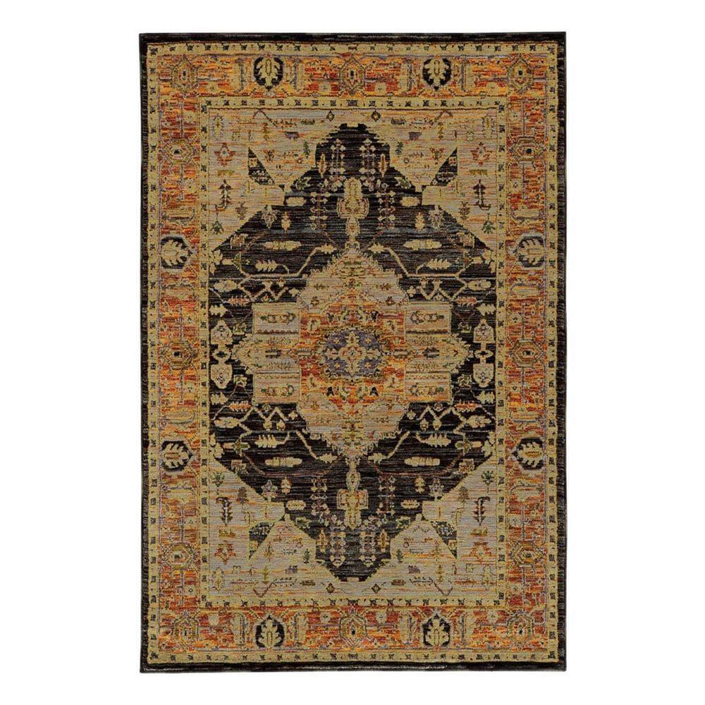 "Oriental Weavers Andorra 7138B 6'7"" x 9'6"" Gold Area Rug, , large"