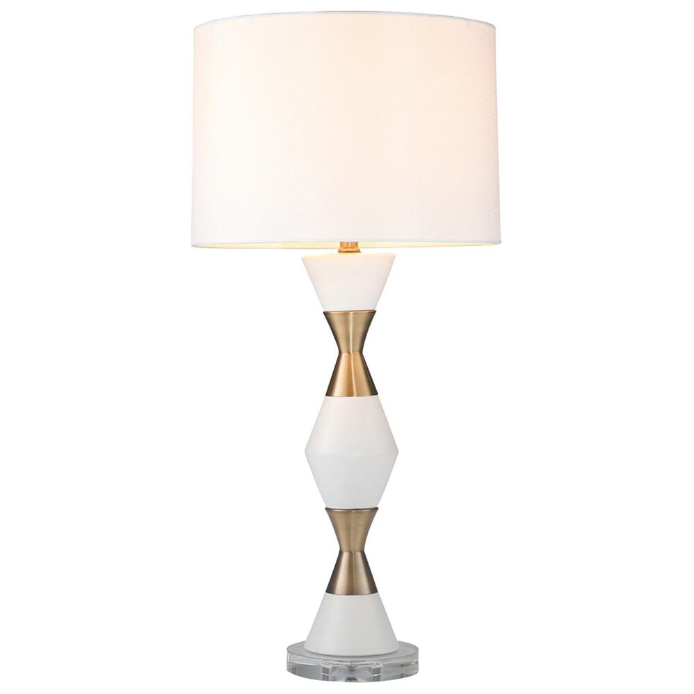 """Sagebrook Home 31"""" Table Lamp in White and Gold, , large"""