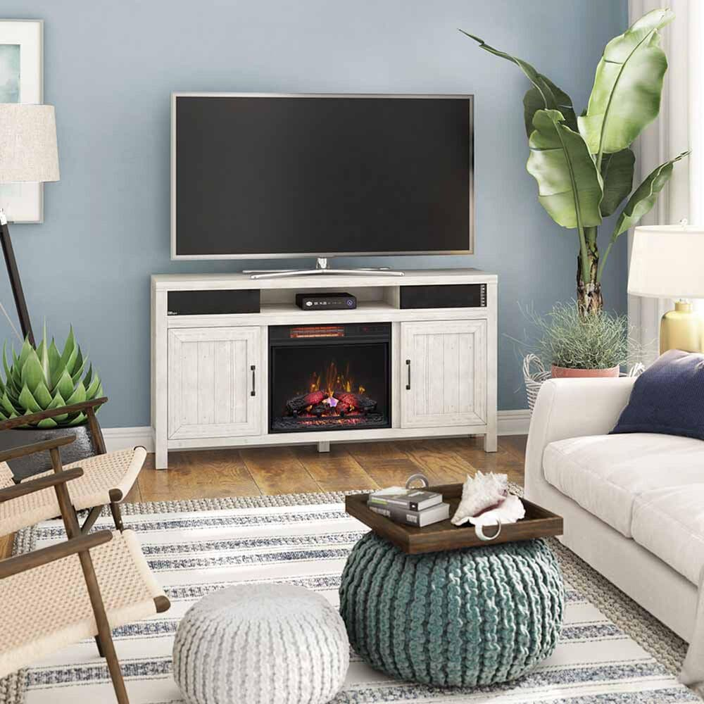 "Classic Flame Melissa 68"" Fireplace TV Console in Old White Pine, , large"