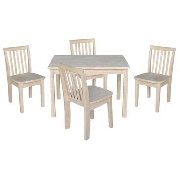International Concepts Mission 5 Piece Juvenile Table Set in Unfinished, , large