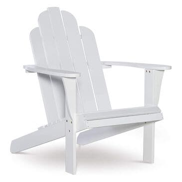 Linden Boulevard Adirondack Outdoor Rocker in White, , large