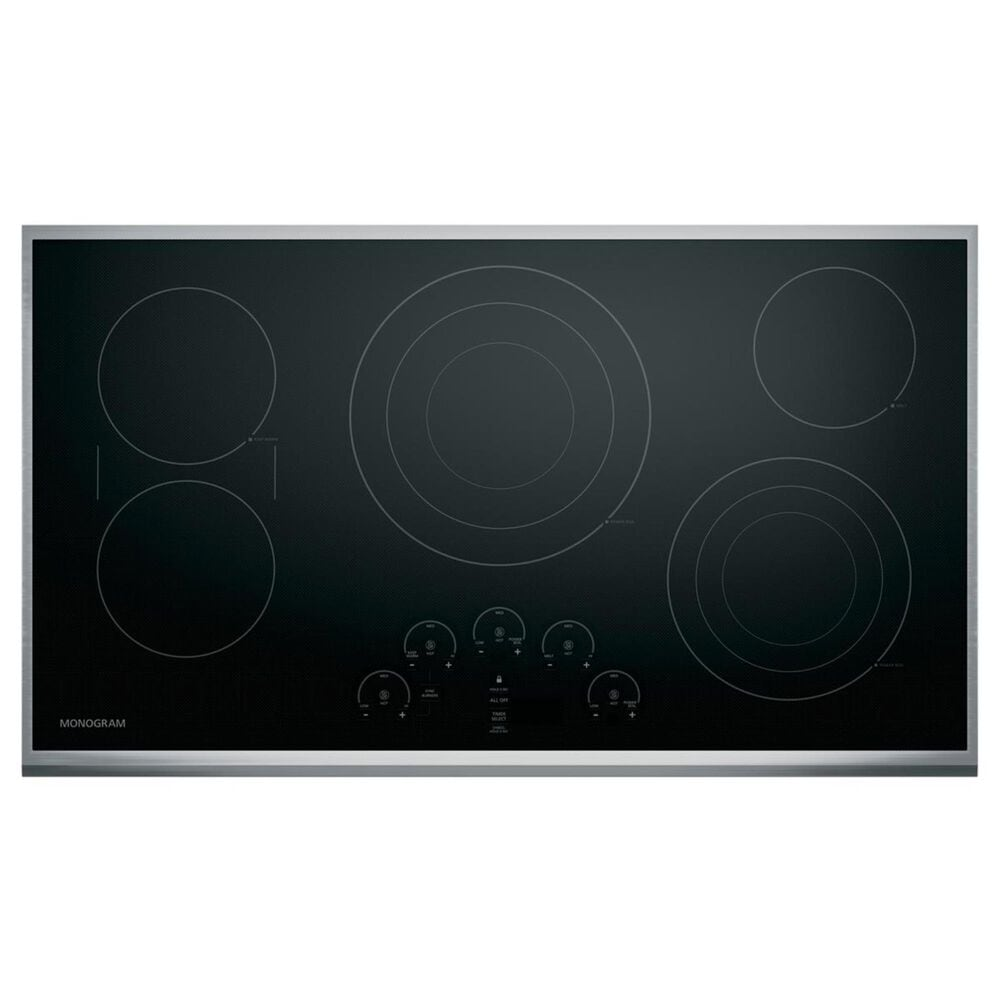 "Monogram 36"" Touch Control Electric Cooktop in Black , , large"
