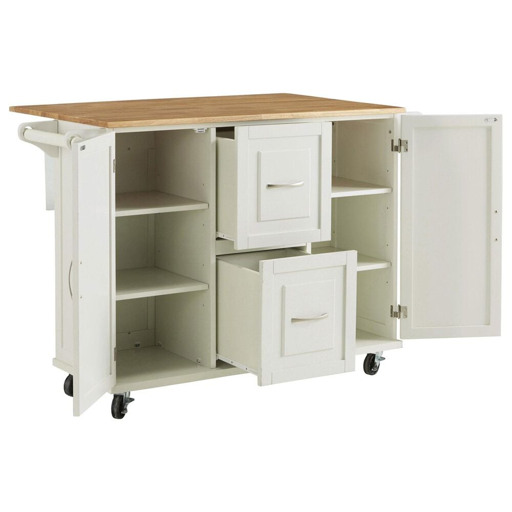 Home Styles Dolly Madison Kitchen Cart in White, , large