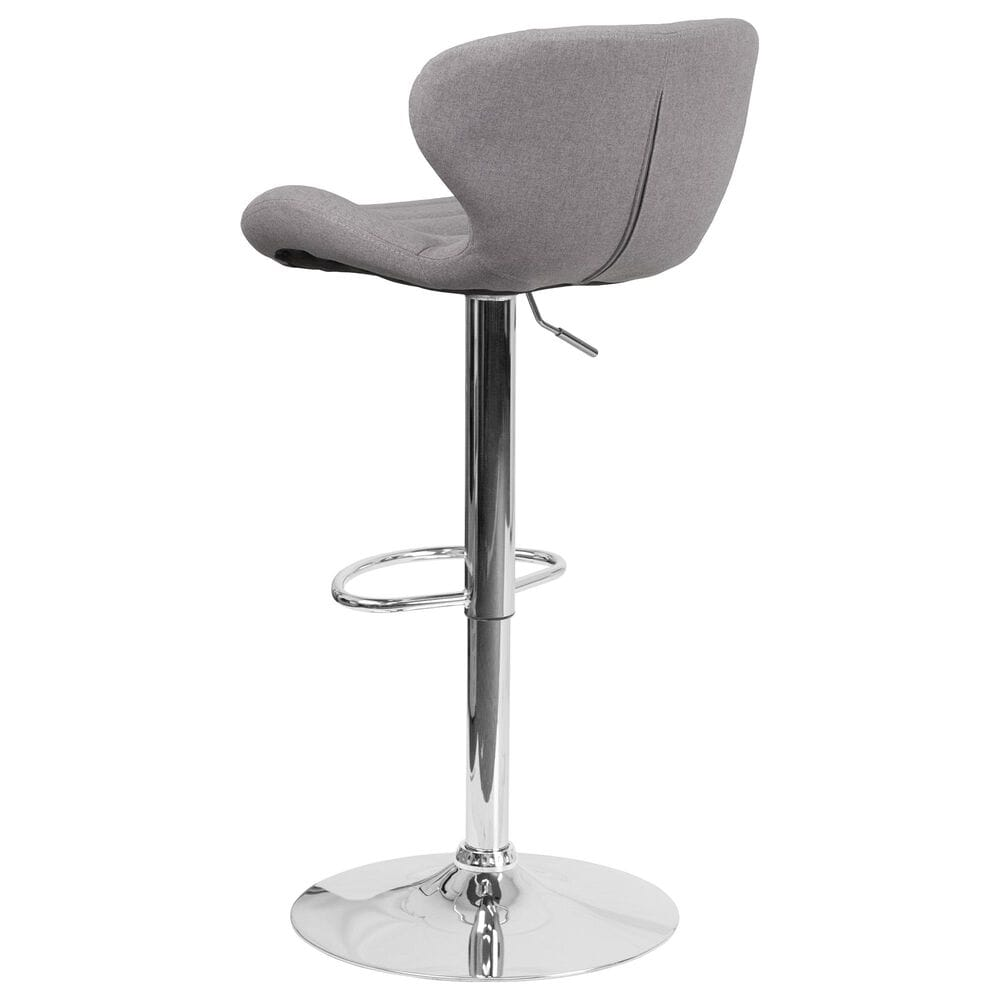 Flash Furniture Adjustable Barstool in Gray, , large