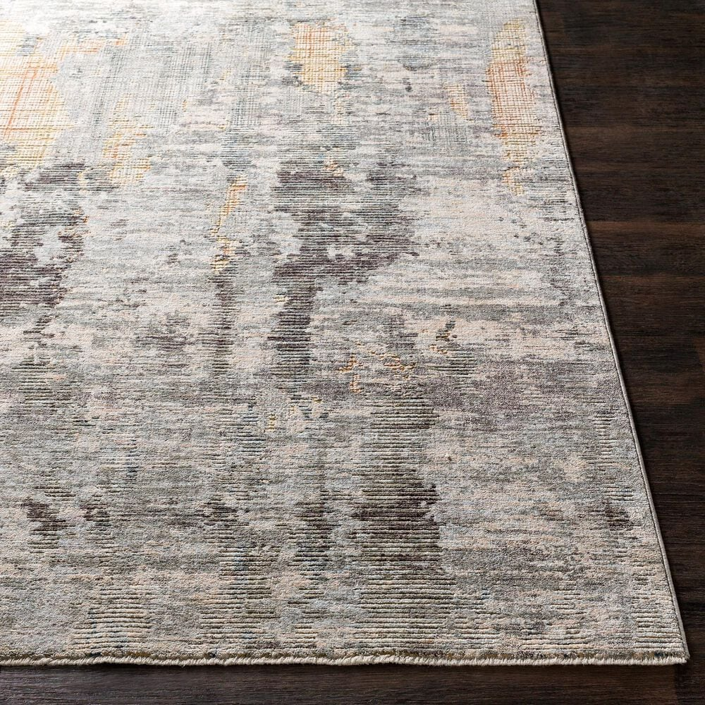 """Surya Presidential PDT-2306 3'3"""" x 5' Blue, Gray and Orange Area Rug, , large"""