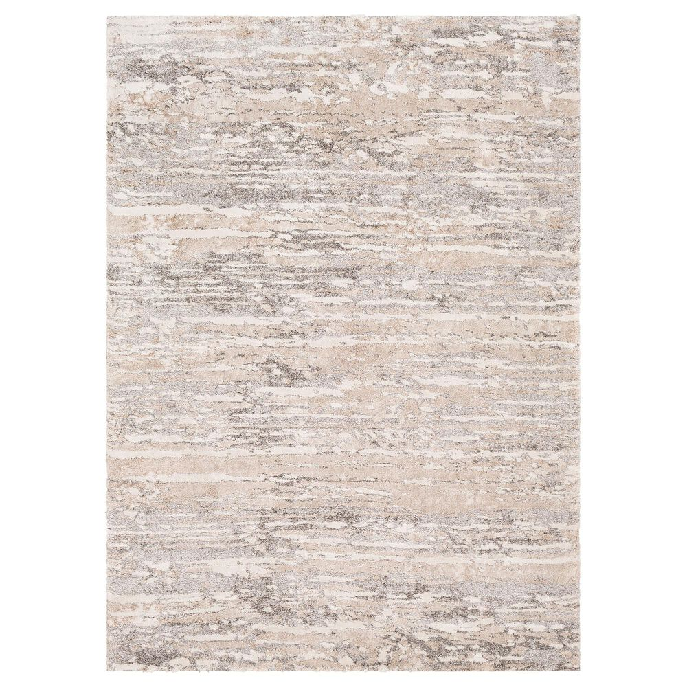 Surya Venice VNE-2302 2' x 3' Light Gray, Camel and Ivory Area Rug, , large