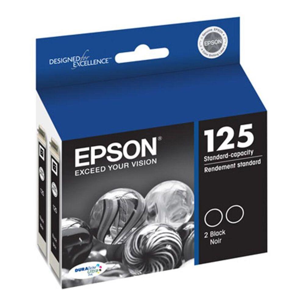 Epson 125 Black Dual Ink Cartridges, , large