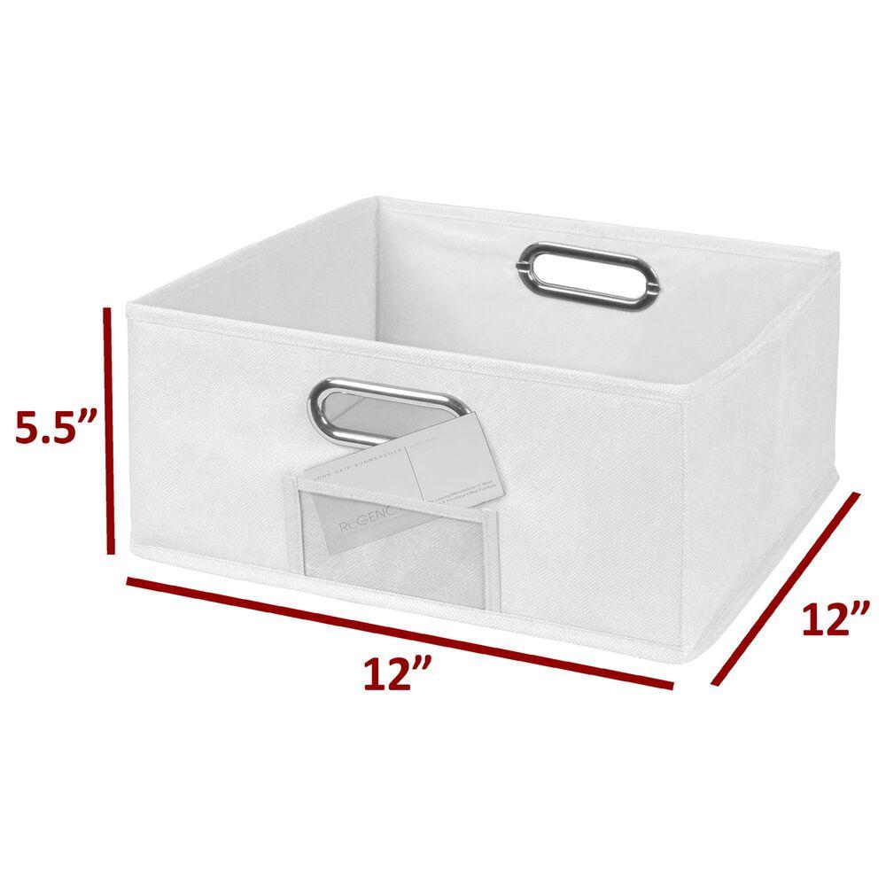 Regency Global Sourcing Niche Cubo Foldable Storage Bin in White, , large