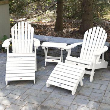 Highwood USA Hamilton 5-Piece Folding Adirondack Set in White, , large