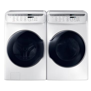 Samsung 5.5 Cu. Ft. Front Load FlexWash Washer and 7.5 Cu. Ft. FlexDry Electric Dryer In White, White, large