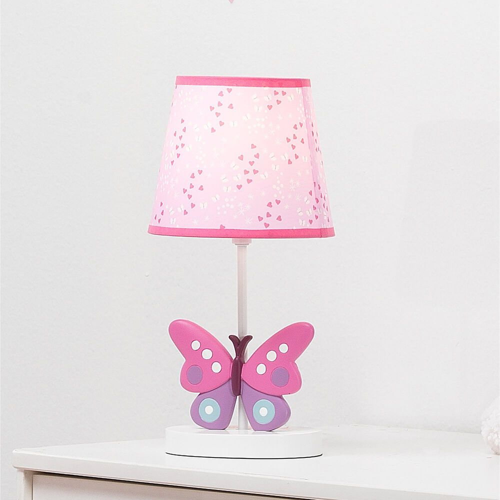 Lambs and Ivy Magic Garden Butterfly Nursery Lamp, , large