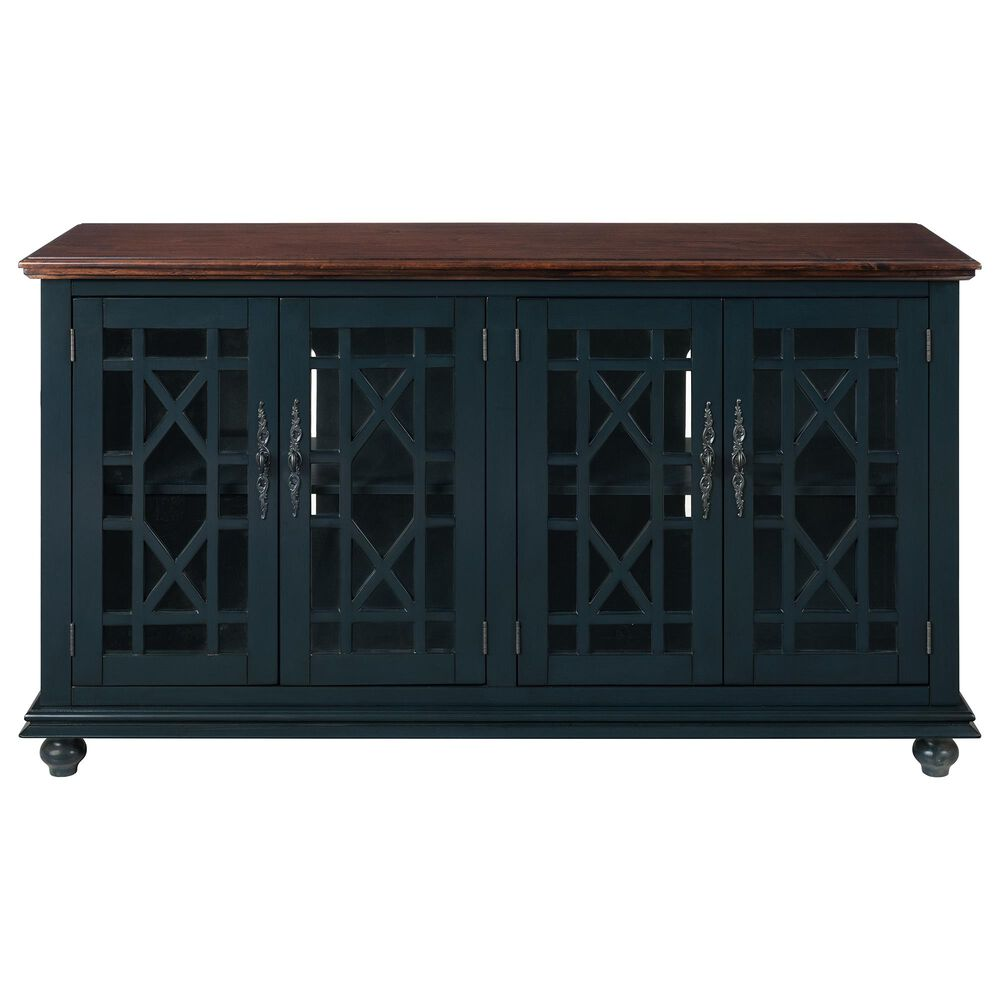 Martin Svensson Home Palisades TV Stand in Catalina Blue/Coffee, , large