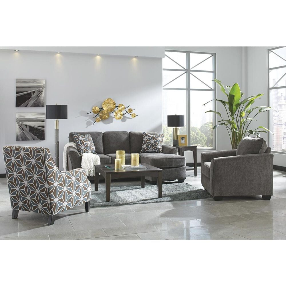 Signature Design by Ashley Brise Queen Sectional Sleeper Sofa in Slate, , large
