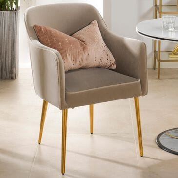 Jennifer Taylor Home Ivy Mid-Century Modern Accent Desk Chair in Mink, , large