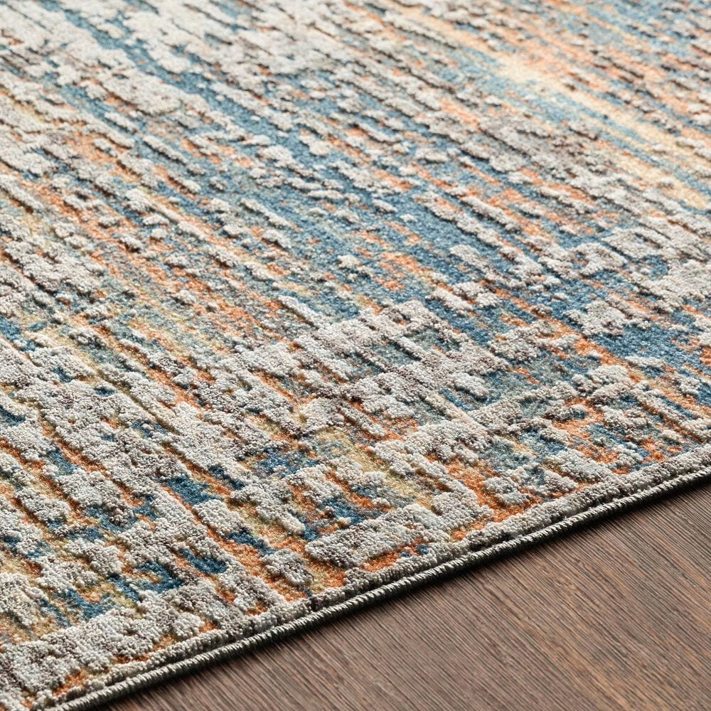 """Surya Presidential PDT-2305 3'3"""" x 5' Blue, Gray and Orange Area Rug, , large"""