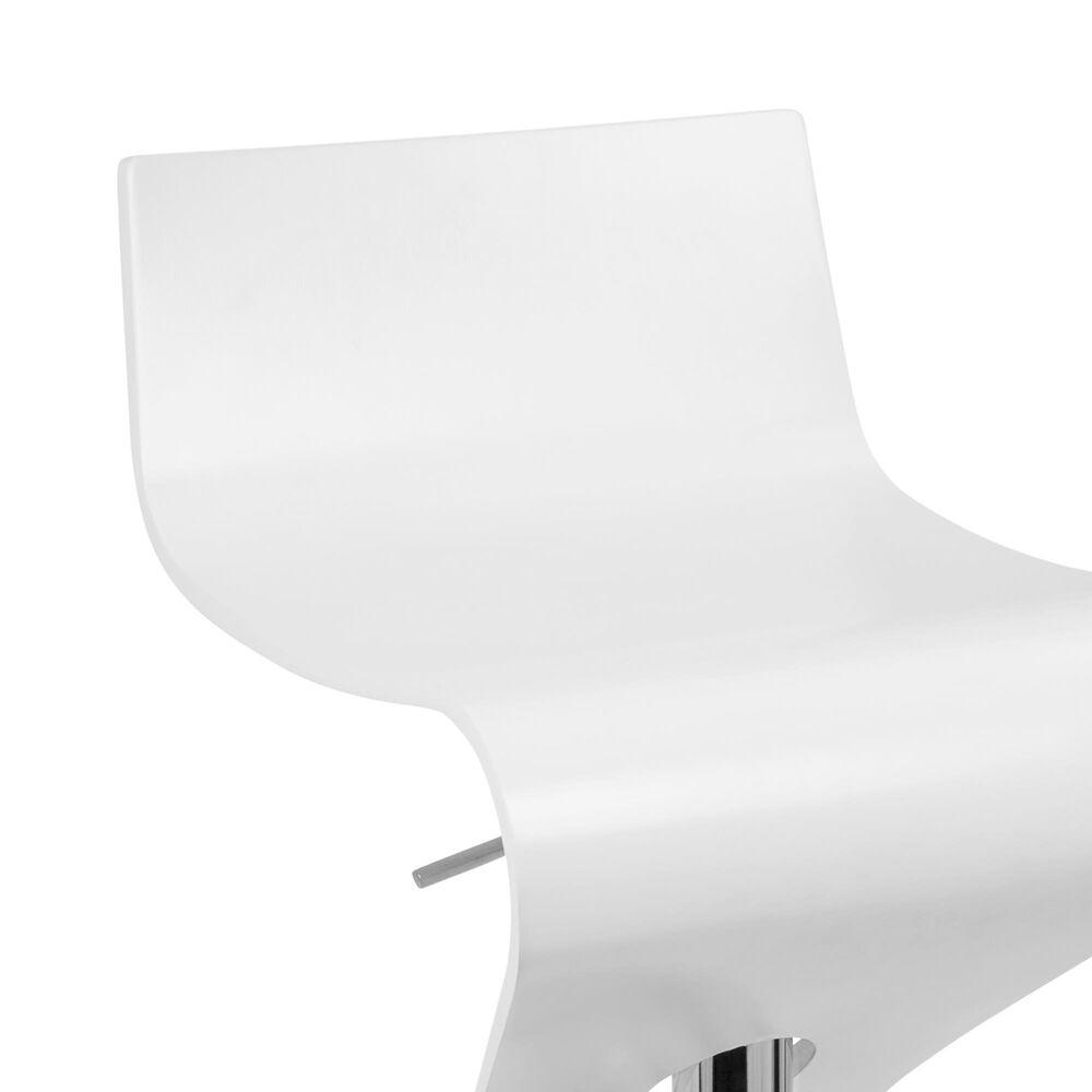 Lumisource Viva Adjustable Swivel Barstool in White/Chrome, , large