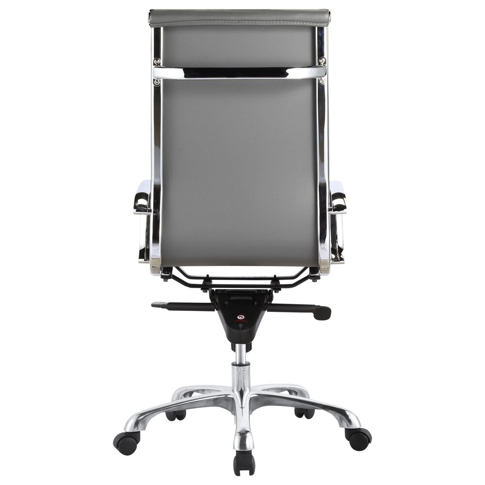 Moe's Home Collection Omega Swivel Office Chair in Grey, , large