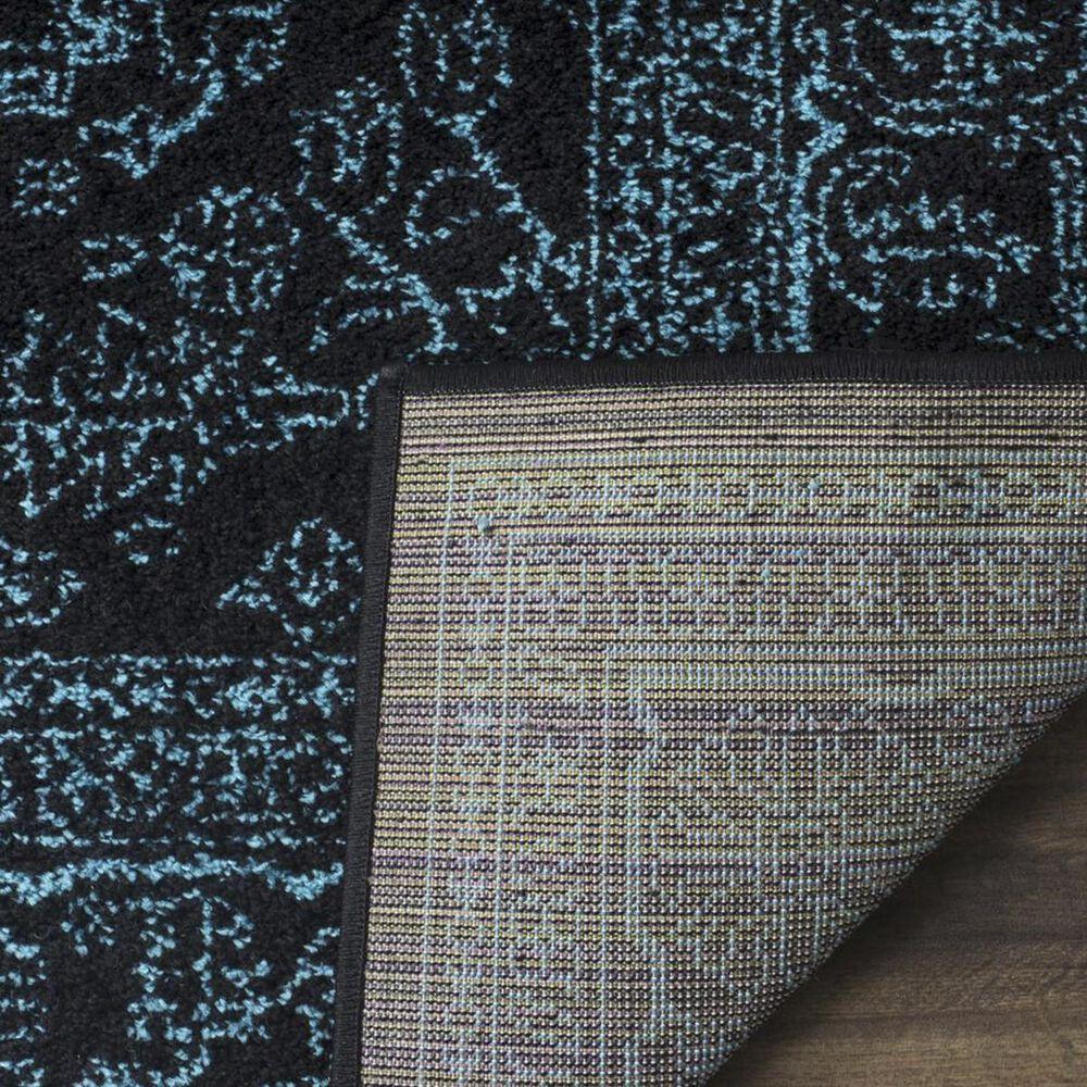 Safavieh Adirondack ADR108K 3' x 5' Black and Teal Area Rug, , large