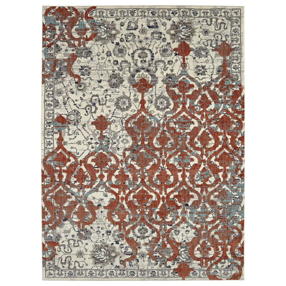 """Karastan Soiree Bellini 91968-90116 5""""3"""" x 7""""6"""" Grey Area Rug, , large"""