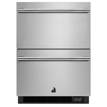 """Jenn-Air Rise 24"""" Double Drawer Refrigerator with Freezer in Stainless Steel, , large"""