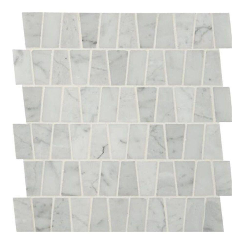 "MS International Carrara White Trapezoid 12"" x 12"" Polished Mosaic Sheet, , large"