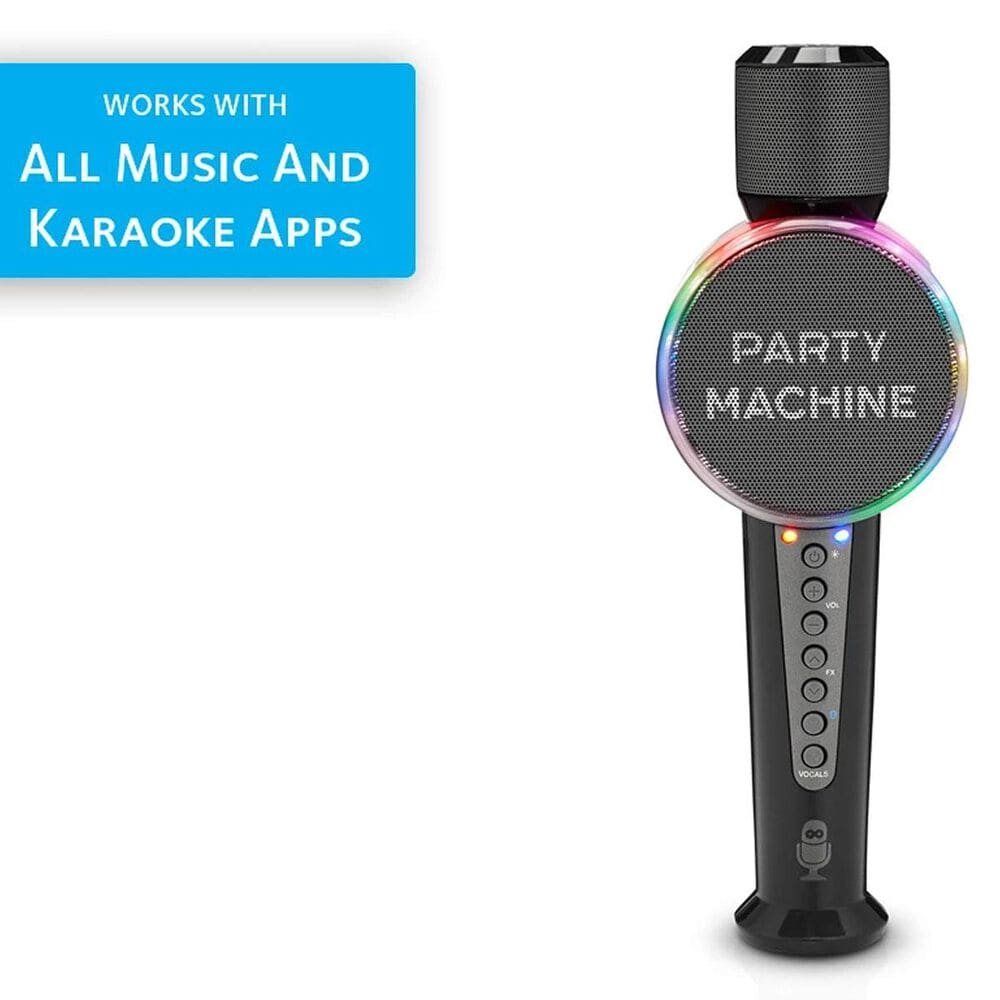 Singing Machine Party Machine Mic with Bluetooth and Voice Changers, , large