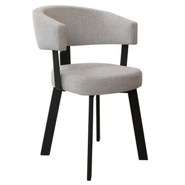 Amisco Grissom Barrel Back Dining Chair in Black Coral, , large